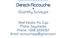 Dereck Accouche - Quantity Surveying Services